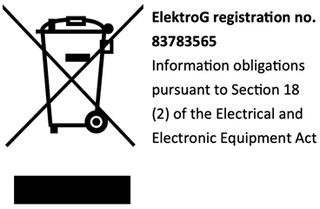 ElektroG Registration hyperlink (https://www.take-e-way.com/services/reporting-and-information-obligations-for-manufacturers/)